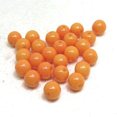 画像1: ガラスビーズ オレンジ4mm 10粒入り