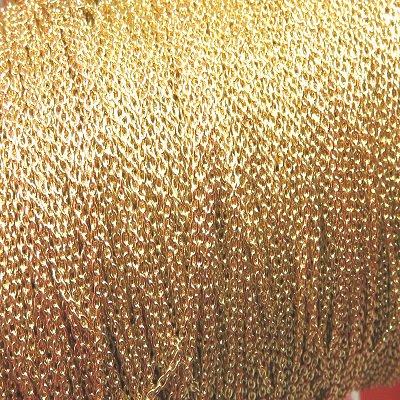 画像1: ゴールドチェーン1.2mm