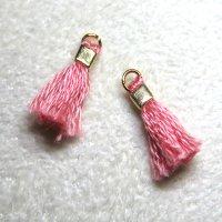 ミニミニフリンジパーツ サーモンピンク 2個