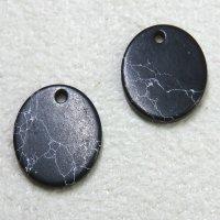 大理石風 ミニ円盤パーツ ブラック