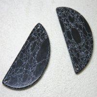 大理石風 半月型パーツ ブラック